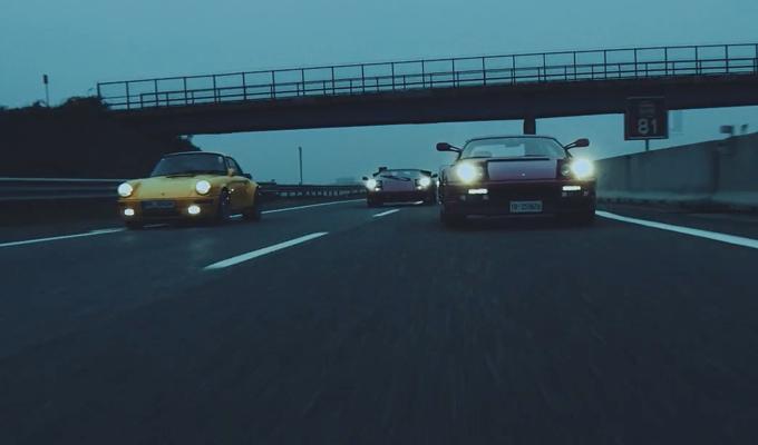 Ferrari, Lamborghini, RUF e Aston Martin: quattro icone vintage e una divertente sfida [VIDEO]