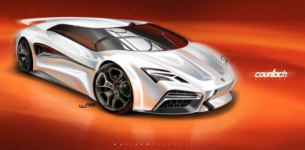Lamborghini Countach: oggi potrebbe essere così [RENDERING]