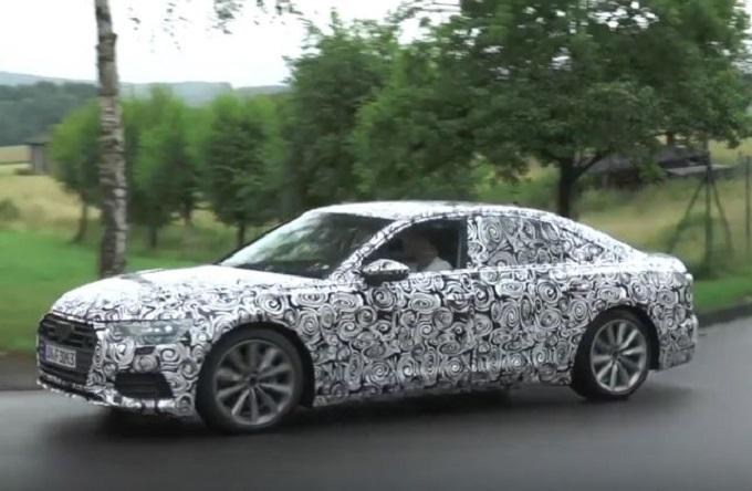 Audi A6 MY 2019 filmata durante i collaudi in Germania [VIDEO SPIA]