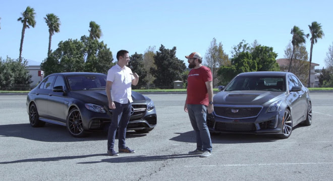 Mercedes E63 AMG, sfida la Cadillac CTS-V [VIDEO]