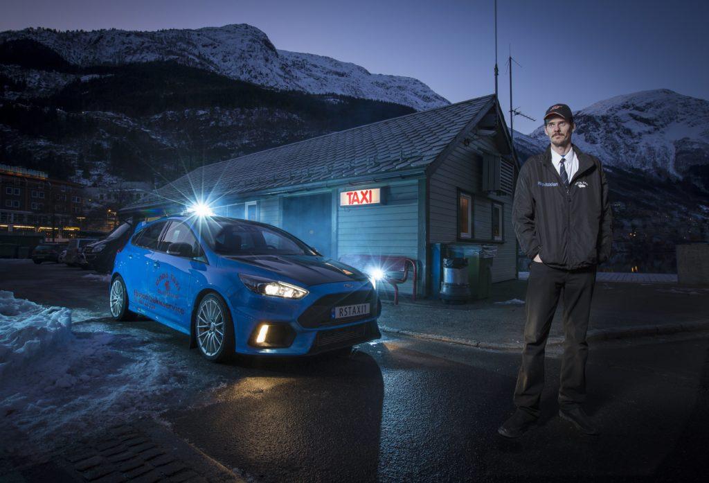 Ford Focus RS Taxi, la performance car dell'Ovale in servizio in Norvegia [VIDEO]