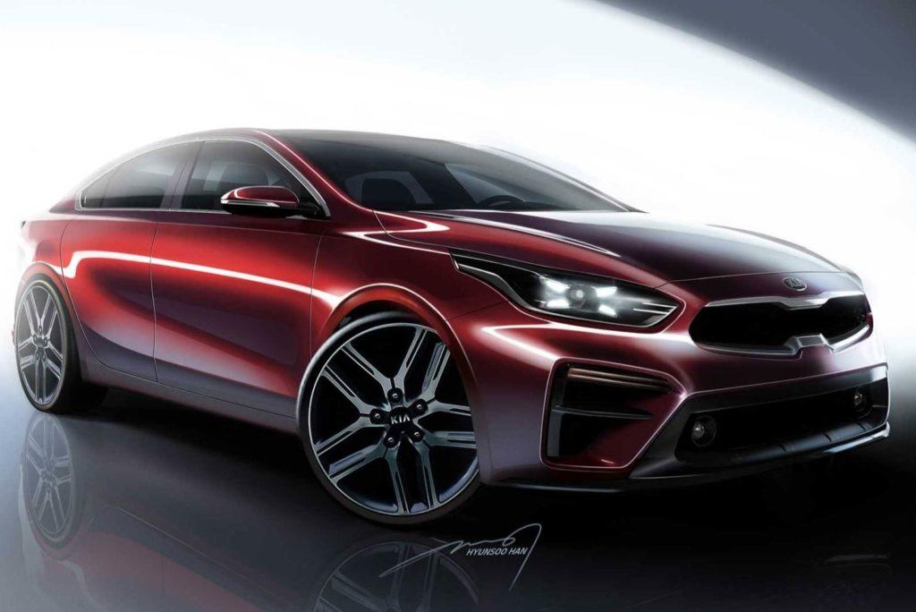 Kia Forte MY 2019, svelati gli sketch design della nuova berlina che debutta a Detroit [TEASER]