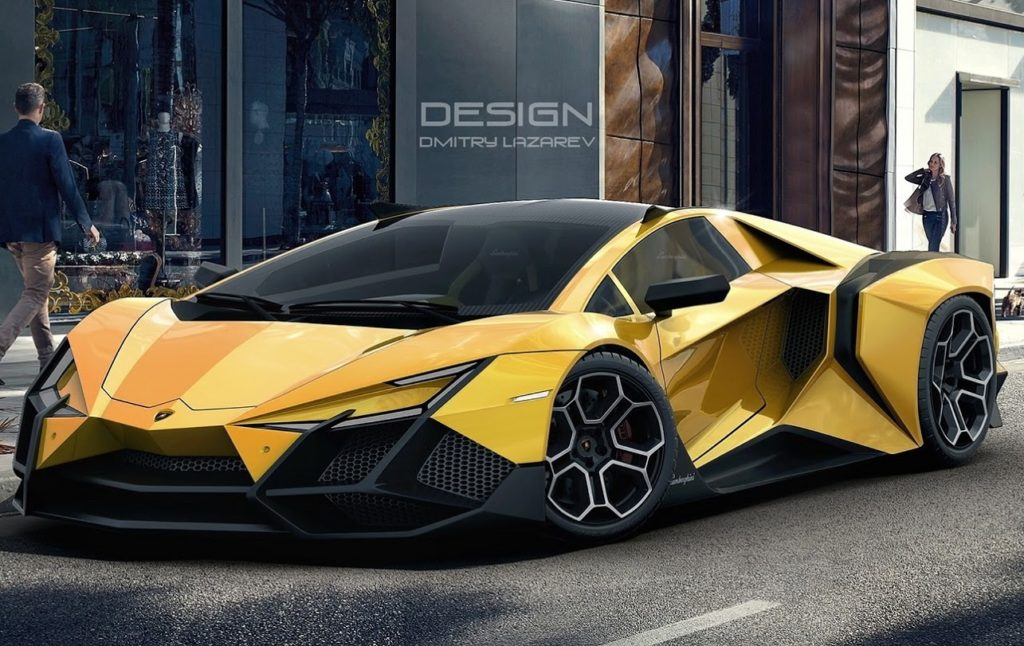 Lamborghini Forsennato L Idea Di Una Nuova Ed Estrema Creatura Del Toro Rendering