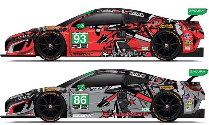 Acura NSX GT3: nuove livree per la 24 Ore di Daytona