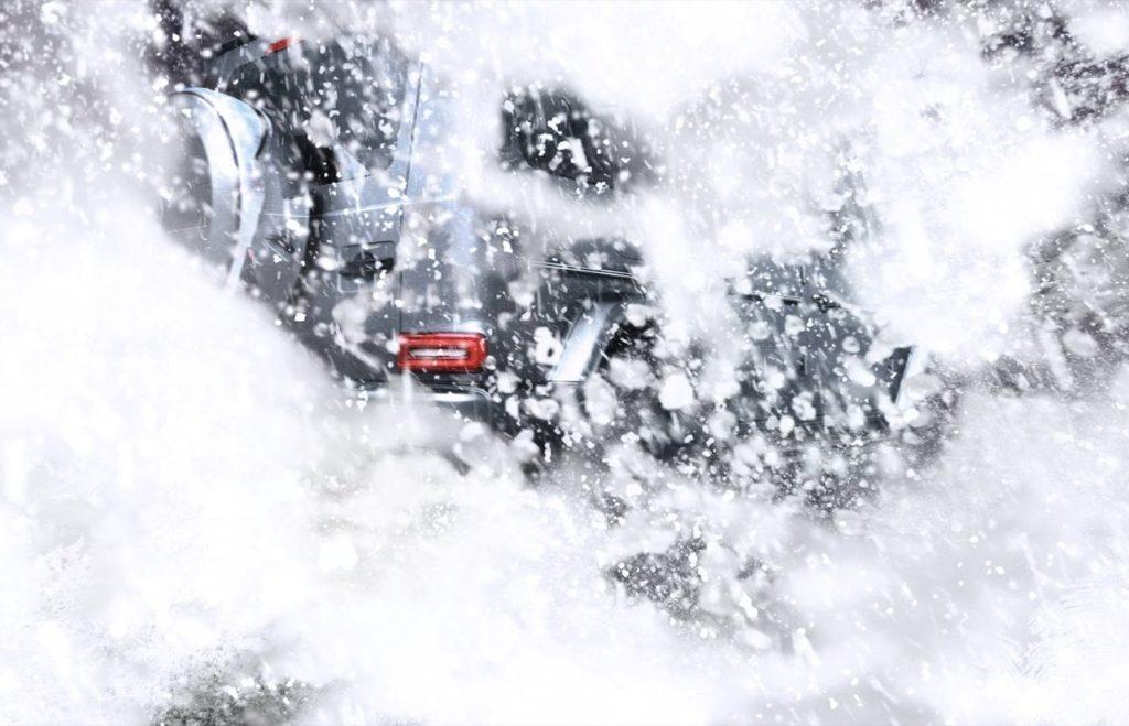 Mercedes Classe G MY 2019, vedo non vedo tra la neve [TEASER]
