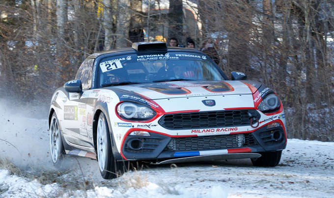 Rally di Monte Carlo, Abarth al via con due 124 rally in R-GT