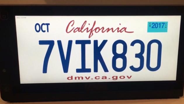 Addio vecchia targa, in California arrivano quelle digitali