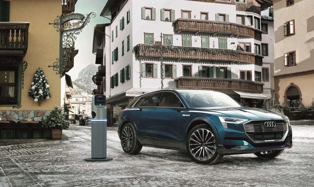Audi, Enel ed il Comune di Cortina insieme per sviluppare la mobilità elettrica