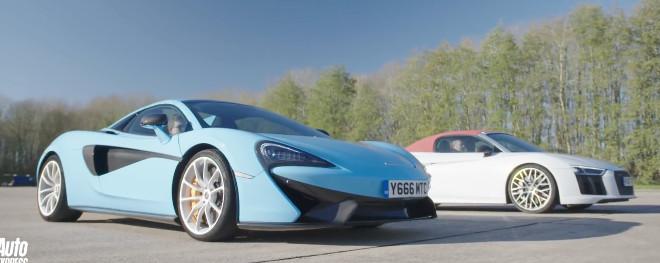 McLaren 570s vs Audi R8 drag race [VIDEO]