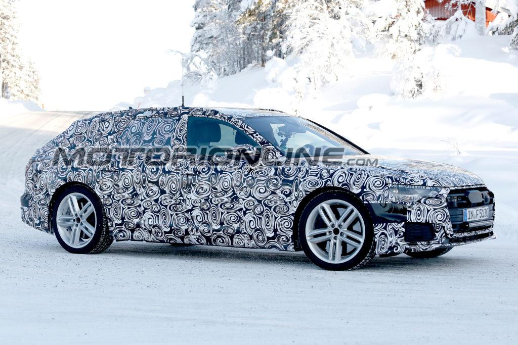 Audi S6 Avant MY 2019: test drive sulla neve per il nuovo modello sportivo [FOTO SPIA]
