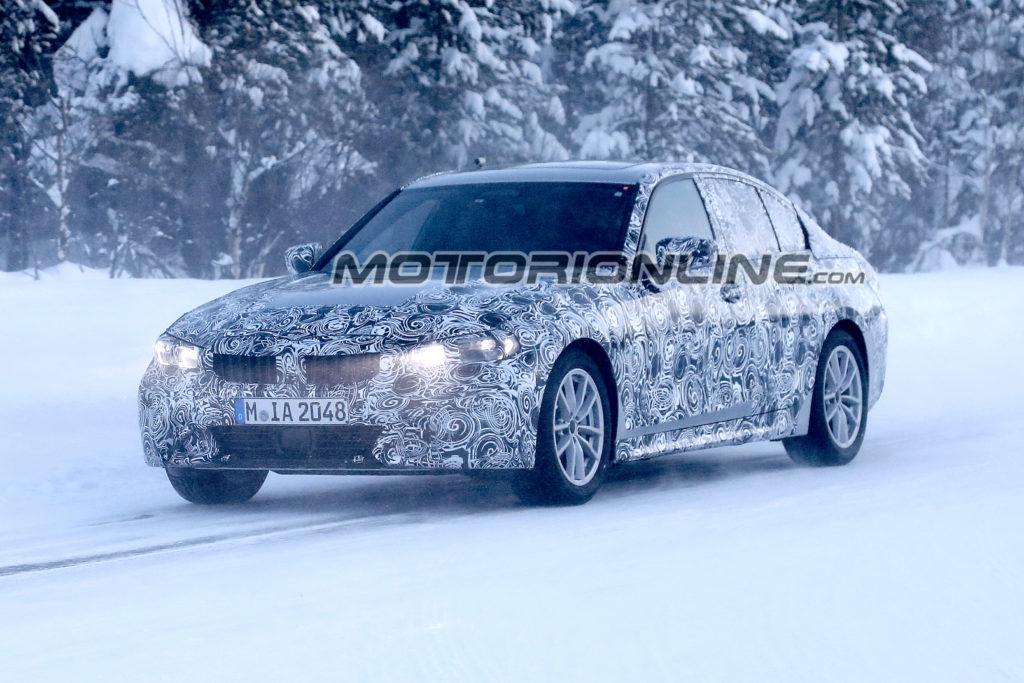 BMW Serie 3: test sulla neve per la nuova generazione [FOTO SPIA]