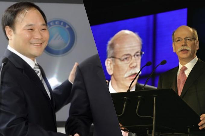 La cinese Geely è ora azionista di maggioranza di Daimler-Mercedes