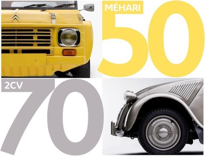 Citroen 2CV e Mehari: Doppio Compleanno