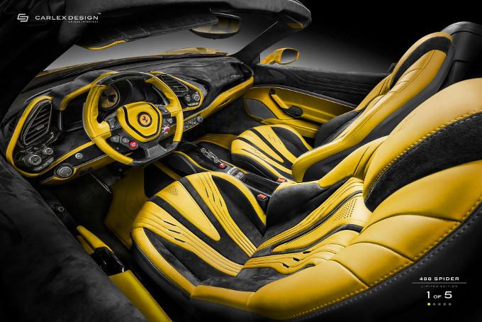 Ferrari 488 Spider, gli interni secondo Carlex Design