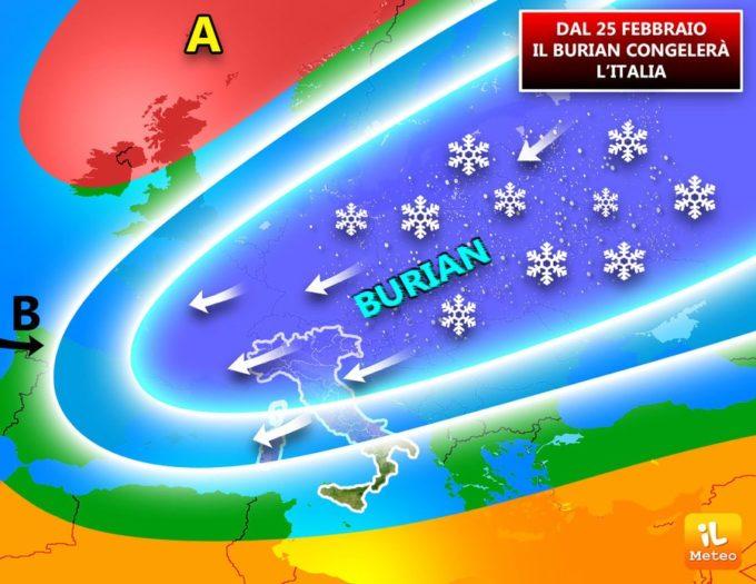 Burian è arrivato sull'Italia: il meteo avverso pregiudica la viabilità di strade ed autostrade