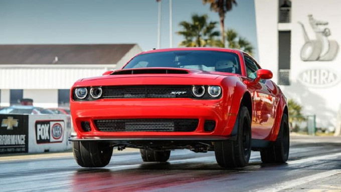 Dodge Challenger SRT Demon, top speed di 326 km/h [VIDEO]
