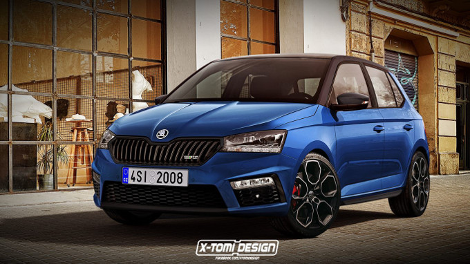 skoda fabia rs il rendering di x tomi design. Black Bedroom Furniture Sets. Home Design Ideas