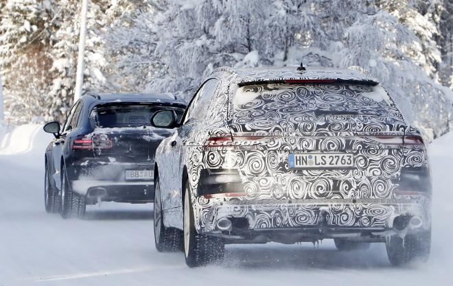 Audi SQ8 e Porsche Macan, avvistati durante i test sulla neve