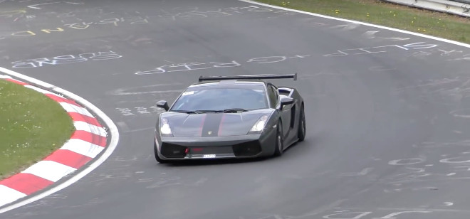 Lamborghini Gallardo Superleggera, a tutta velocità tra i cordoli del Nurburgring [VIDEO]