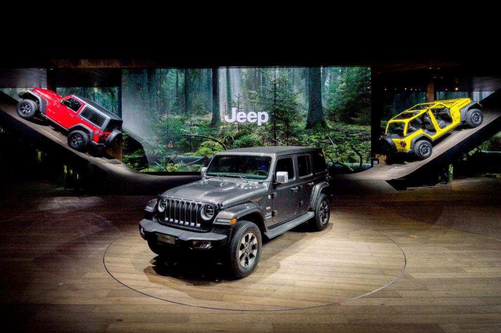 """Jeep ha vinto il titolo di """"miglior spazio espositivo"""" al Salone di Ginevra 2018"""