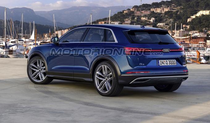 Audi Q3 2019: un'altra prospettiva dell'ipotizzata nuova generazione [RENDERING]