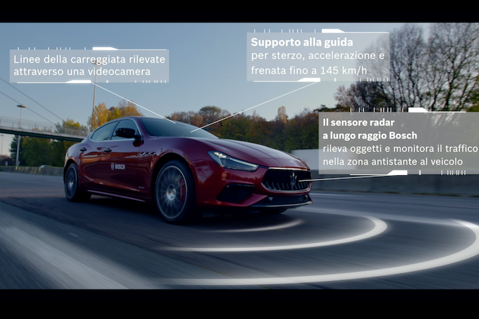 Bosch presenta Highway Assist per la gamma Maserati 2018 [TEST]