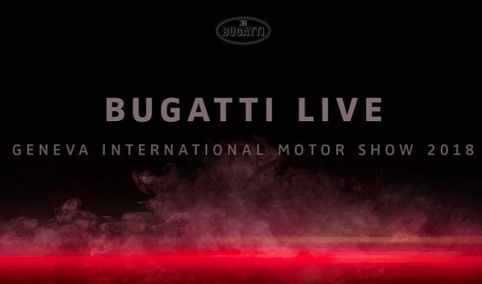 Bugatti al Salone di Ginevra alza il velo dalla sua nuova creatura [LIVE STREAMING]