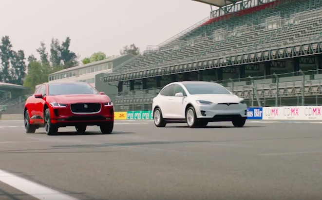 Jaguar I-Pace vs Tesla Model X: sfida a Città del Messico [VIDEO]