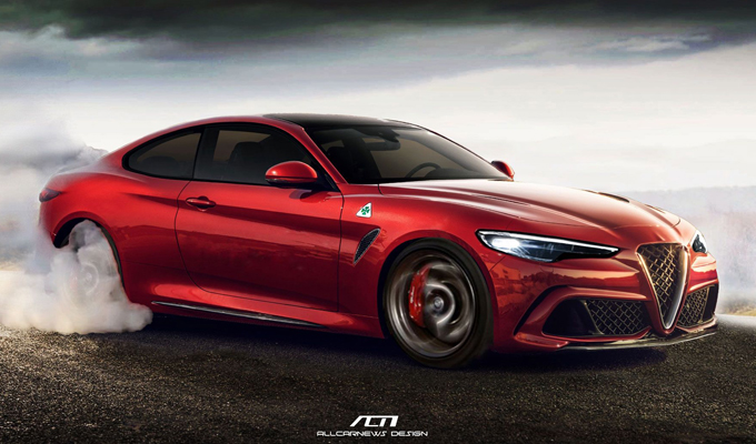 Alfa Romeo Giulia Coupé: una nuova ipotesi, immaginando la Quadrifoglio [RENDERING]
