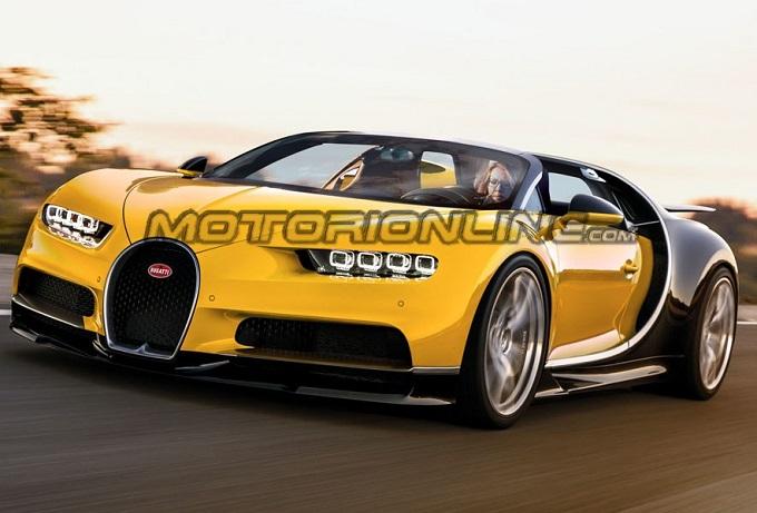 Bugatti Chiron Roadster: la supercar immaginata senza tetto [RENDERING]