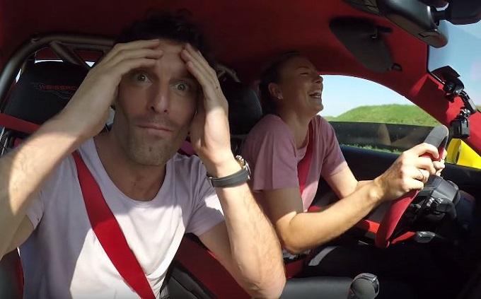 Mark Webber e Maria Sharapova testano la nuova Porsche 911 GT2 RS [VIDEO]
