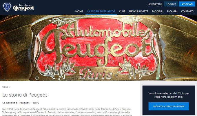 Peugeot: in occasione dei 20 anni del Club Storico italiano un nuovo portale web [FOTO]
