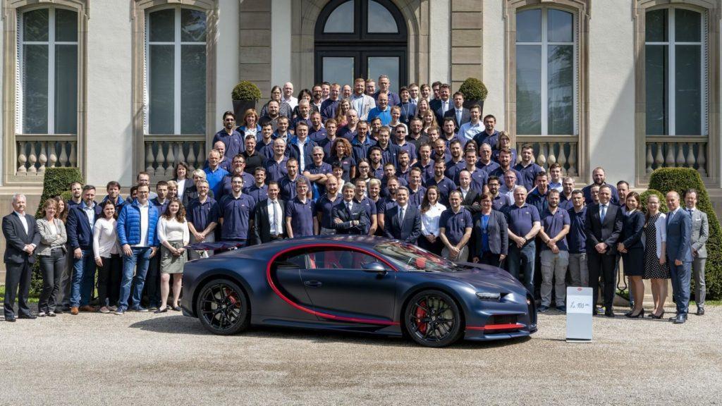 Bugatti Chiron: prodotto l'esemplare numero 100