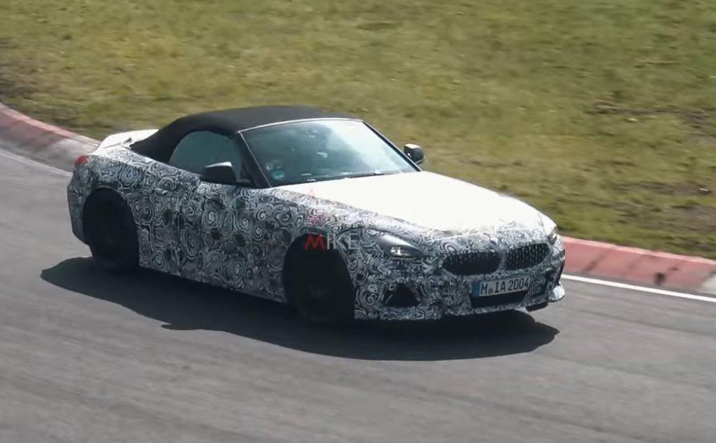 BMW Z4 M40i: la futura roadster mostra i muscoli al Nurburgring [VIDEO SPIA]
