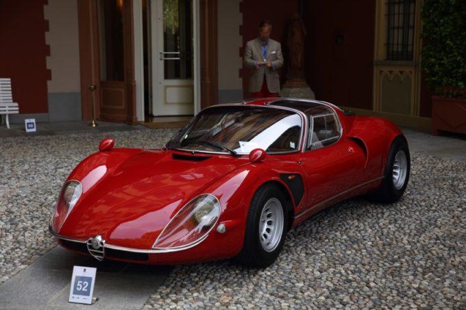 Alfa Romeo 33/2 Stradale premiata con la Coppa d'Oro al Concorso d'Eleganza di Villa d'Este