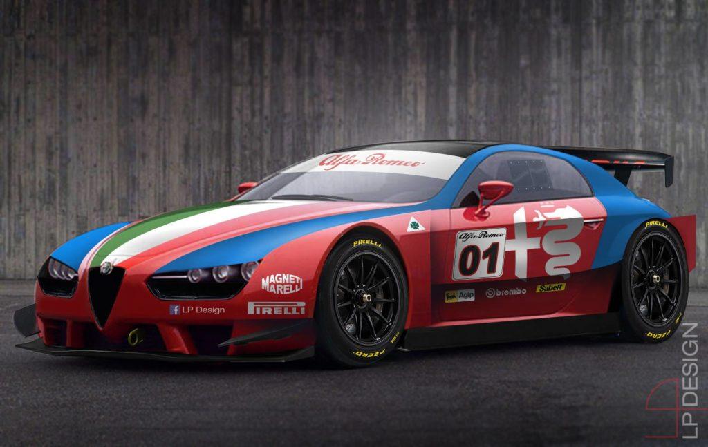 Alfa Romeo Brera da corsa: immaginando la race car del Biscione [RENDERING]