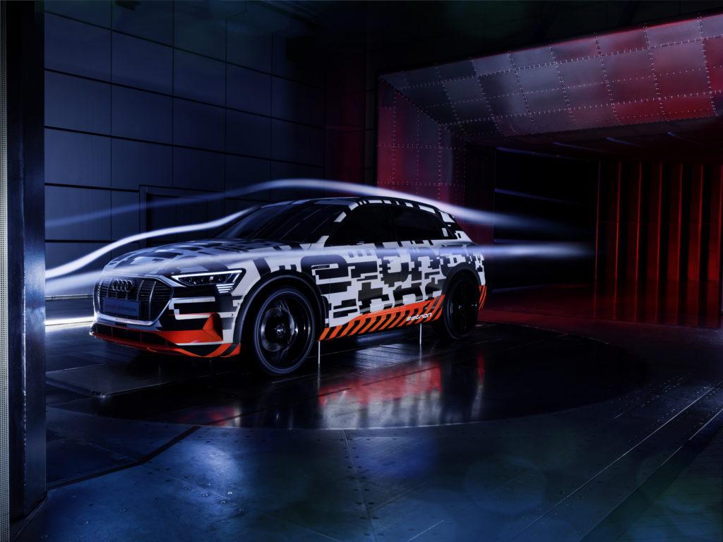 Audi e-tron: aerodinamica da record