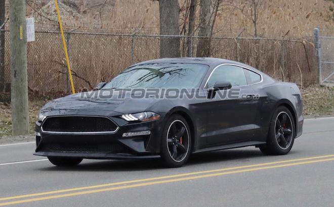 Ford Mustang Bullitt Shadow Black - Foto spia 14-5-2018