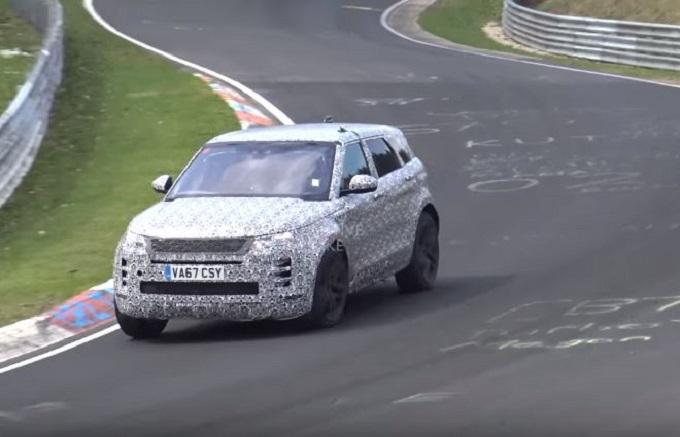 Nuova Range Rover Evoque filmata in azione al Nurburgring [VIDEO SPIA]
