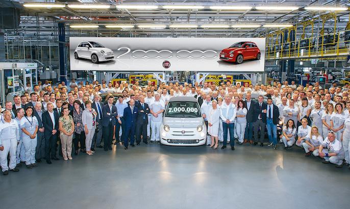 Fiat 500: esce dalla fabbrica l'esemplare numero 2.000.000