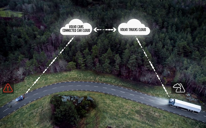 Volvo: auto e camion si parlano, con Connected Safety