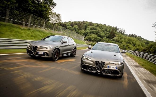 Alfa Romeo Stelvio e Giulia NRING - Foto ufficiali