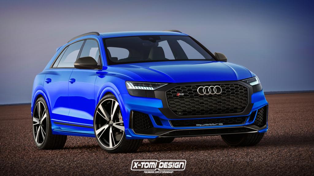 Audi RS Q8: la versione estrema del nuovo SUV prende forma così [RENDERING]