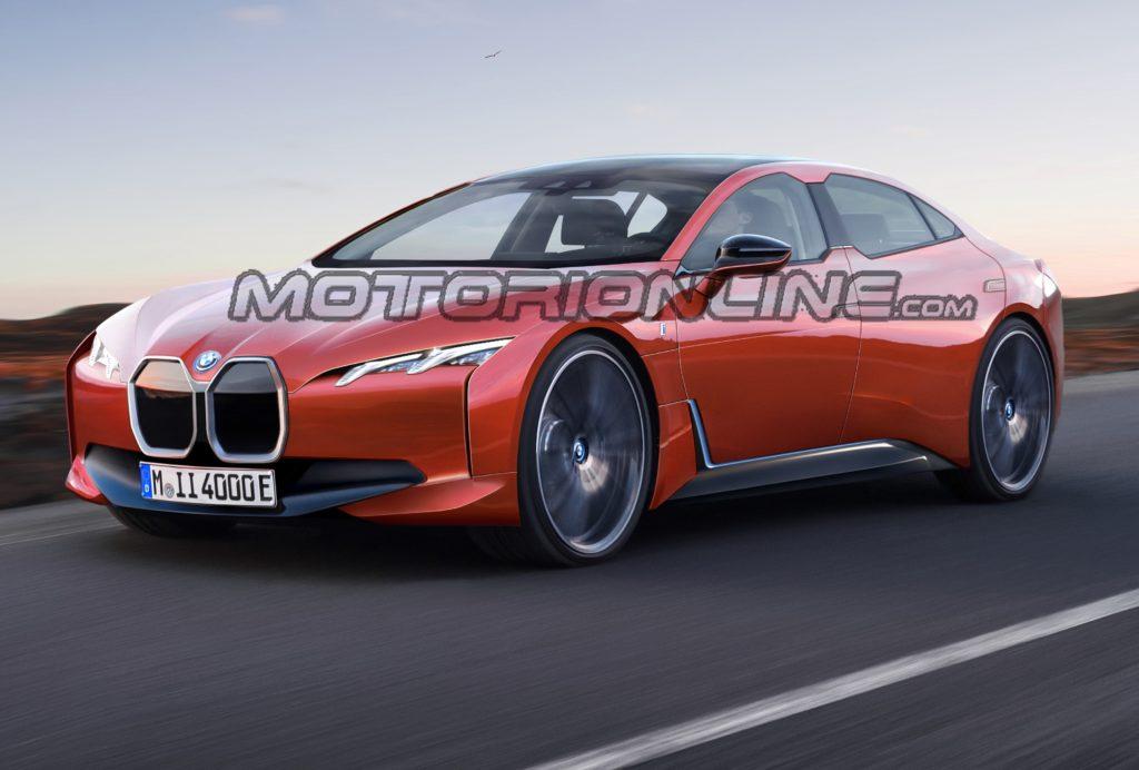 BMW i4: immaginando la nuova berlina elettrica dell'Elica [RENDERING]