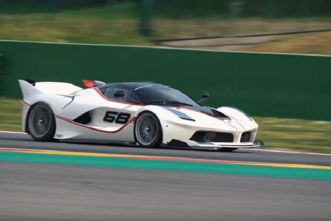 Ferrari FXX K: parata di stelle rombanti sulla pista di Spa-Francorchamps [VIDEO]