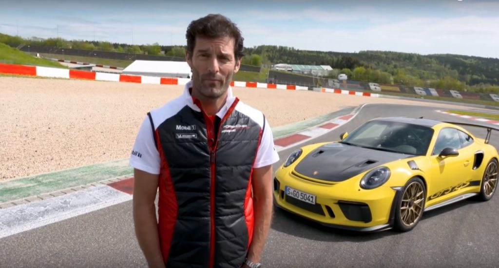 Mark Webber guida la nuova Porsche 911 GT3 RS al Nurburgring [VIDEO]