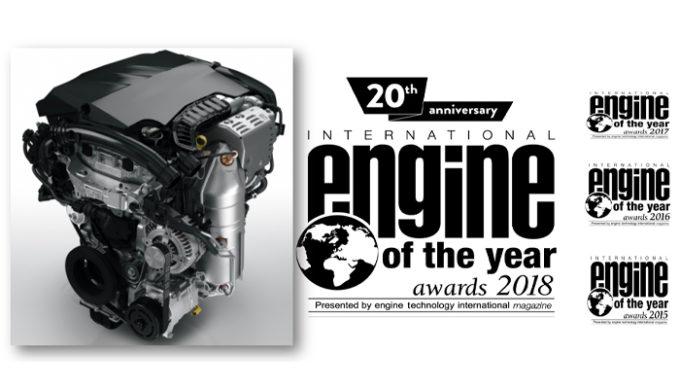 Groupe PSA, il motore benzina tre cilindri turbo PureTech premiato agli Engine of the Year 2018