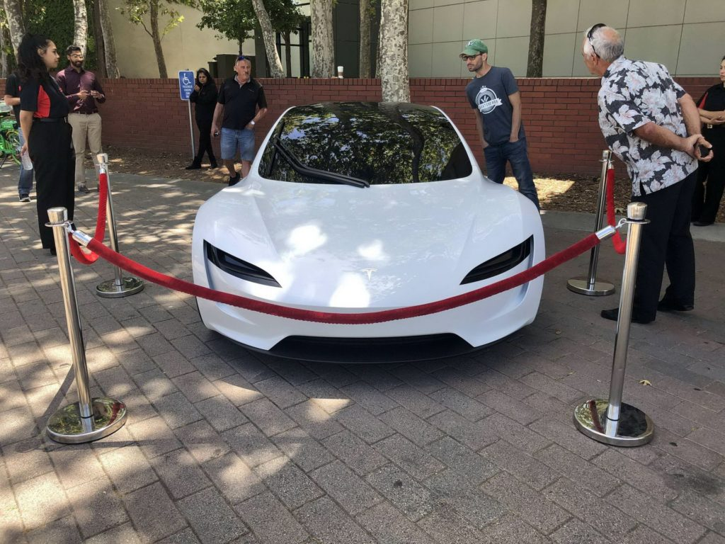 Tesla Roadster 2020 bianca