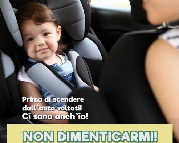 Bimbi in auto: mai più da soli, la nuova campagna di sensibilizzazione di Asaps