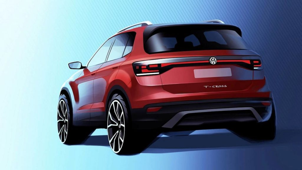 Volkswagen T-Cross: primo assaggio ufficiale del look [TEASER]